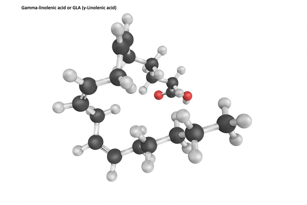 Gamma-linolenic acid or GLA (γ-Linolenic acid) has been studied by scientists for its possible hair growth enhancing effects