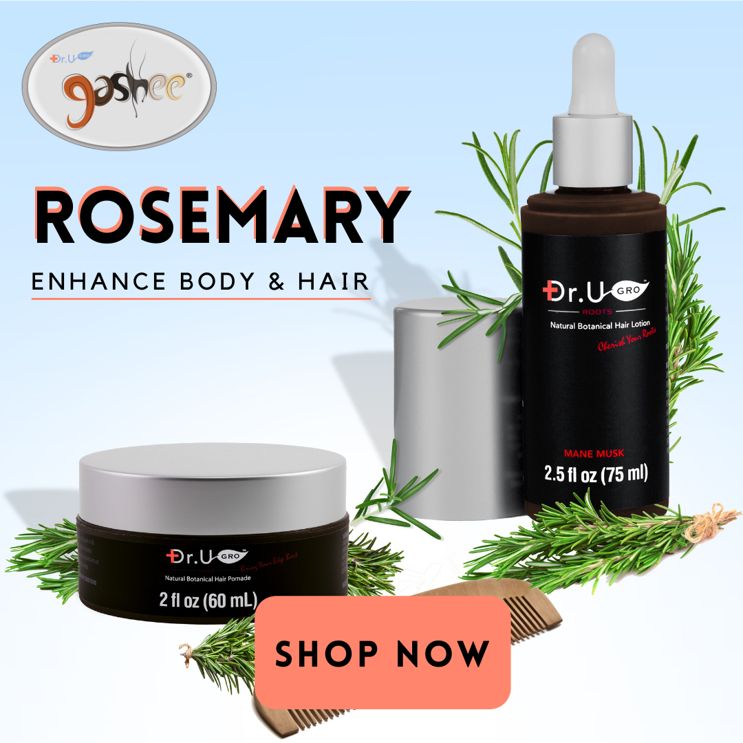 Gashee Hair Lotion and Pomade with rosemary