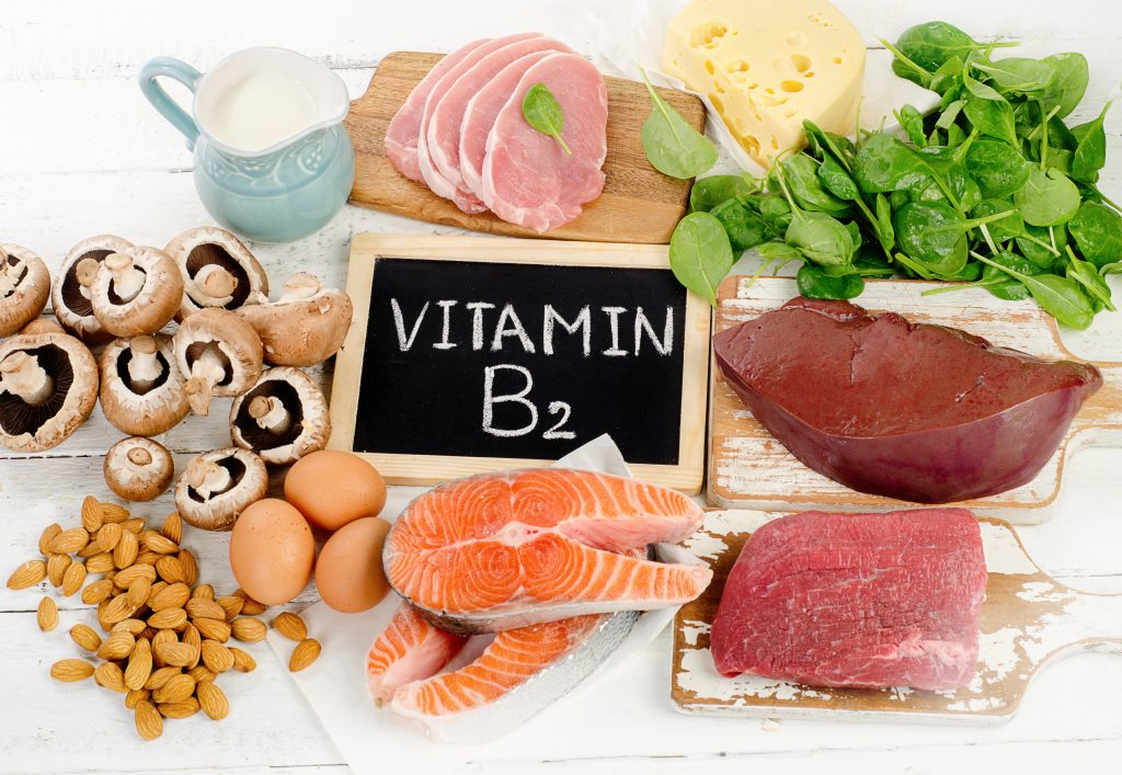 Riboflavin, also known as Vitamin B2 found naturally in plants, grains, salmon, liver and dairy products.