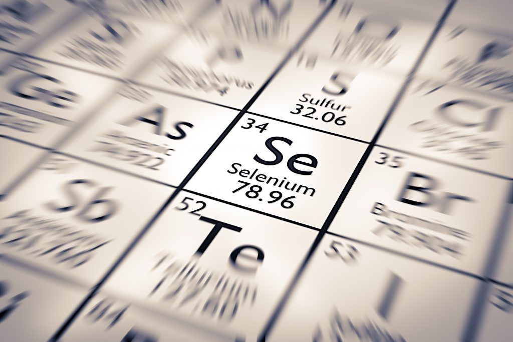 Playing a vital role in hair health is selenium, the 34th Chemical Element of the Mendeleev Periodic Table