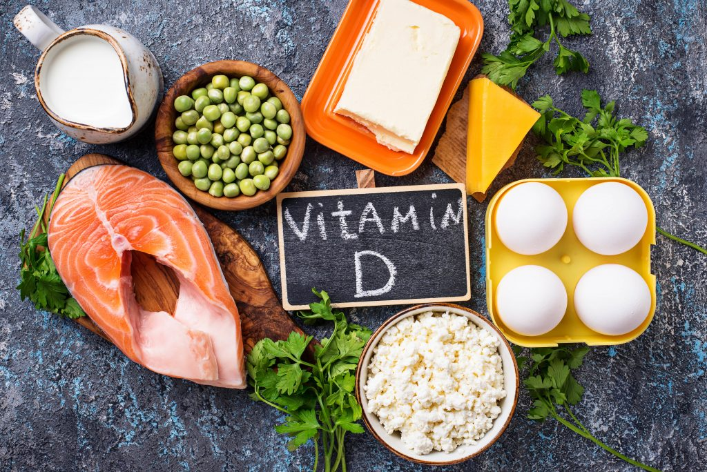 Vitamin D can be found in fish, eggs, and other food sources. With enough sunlight, it can be produced in our skin.