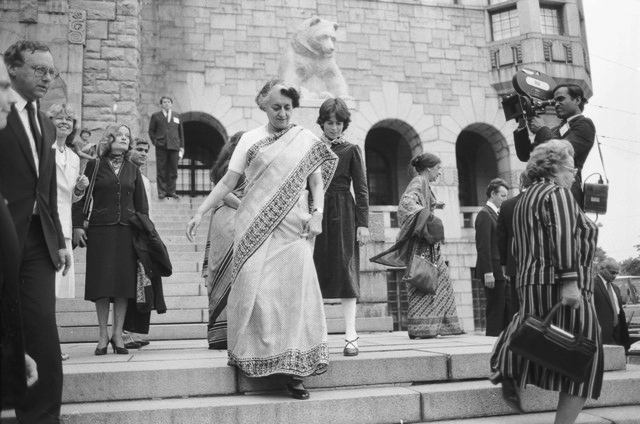 Indira Ghandi was the first female Prime Minister to hold office in India - CC 4.0