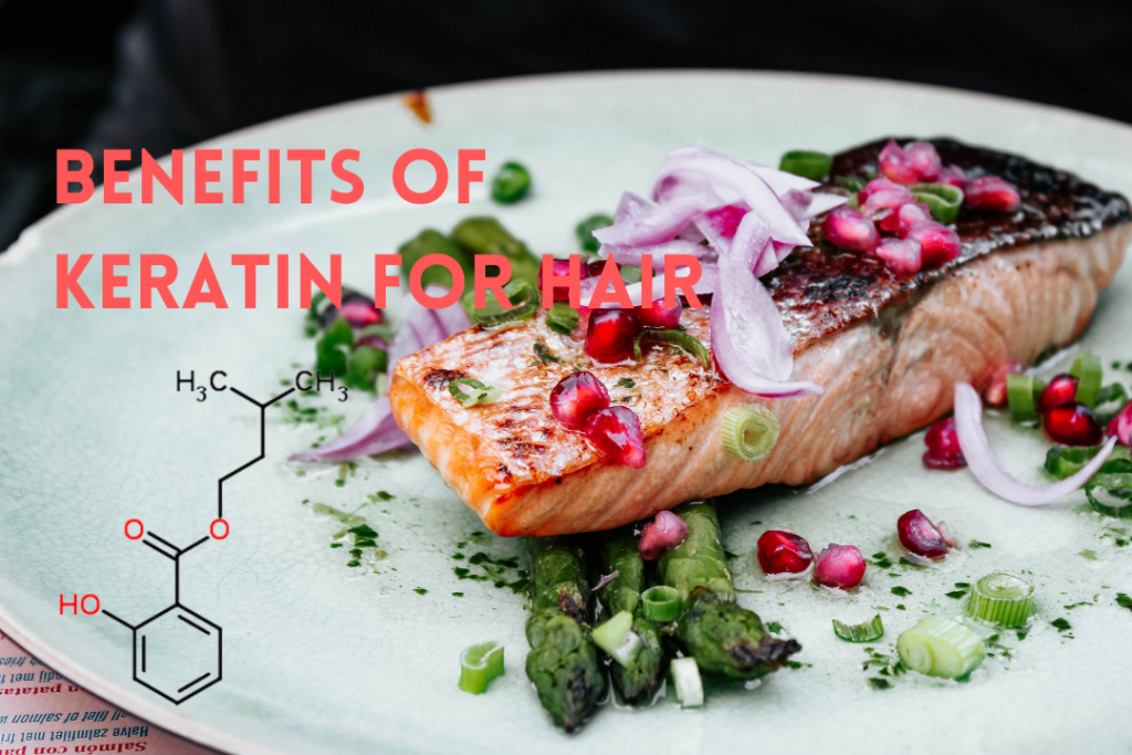 Keratin for hair: salmon, eggs, and onions are great sources of keratin for hair growth and health - Dr. UGro Gashee